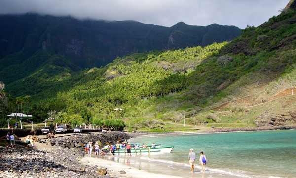 Escale à Hane, dans l'île d'Ua Huka.