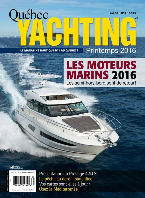 Quebec Yachting - Page couverture - Printemps 2016 - BR