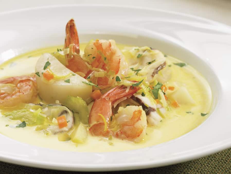 Recette - Chaudree de la mer a l arome de curry - guide cuisine - V2