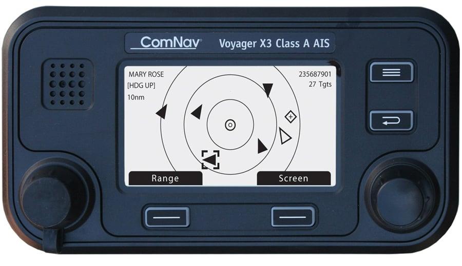 Voici le Voyager X3 avec écran de ComNav.